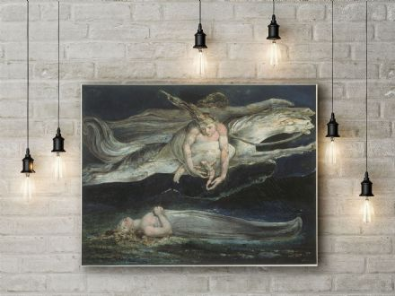 William Blake: Pity. Mythological Fine Art Canvas.